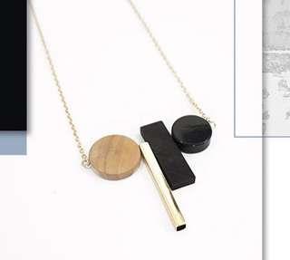'Ramona' Edgy Geometric Shapes Necklace