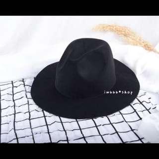 🚚 韓版黑色紳士帽