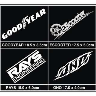 ONO RAYS ESCOOTER GOODYEAR車貼 汽車 摩托車 機車 電動車 反光貼 防水耐熱 套貼 側貼 品牌