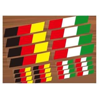 德國 義大利國旗 安全警示 反光貼 裝飾貼 車貼 貼紙 汽車 電動車 防水耐熱 套貼