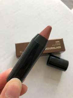 Hourglass Lip Stylo in Peacemaker mini, swatched once.