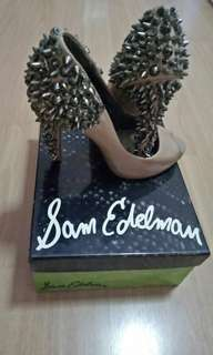 Nude Sam Edelman Lorissa peep toe high heels