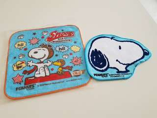 New Snoopy face towel set