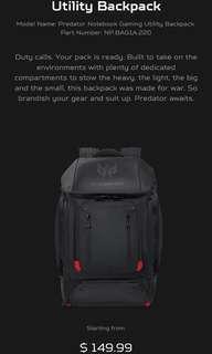 Acer Predator Gaming backpack 17 inch