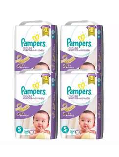 Pampers Premium Care Tape Diapers S60s (4-8kg) x 4 packs