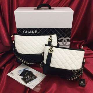 C H A N E L 💞💟 2pc of set. 👝💼 💯 Authentic Quality Complete Inclusion. 😍  Dustbag, box Reciept and serial# Care card