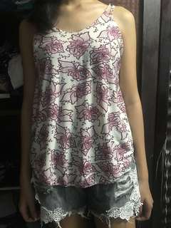 floral sleeveless