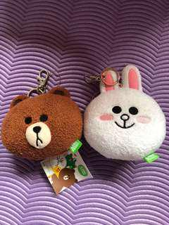 *PRICE DROP* LINE FRIENDS Brown and Cony plush keyring