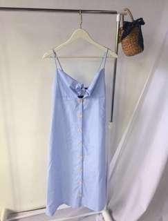 Front tie dress