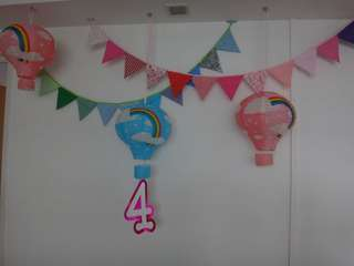 Hot Air Balloon Birthday Party Deco