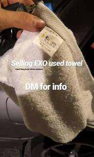 EXO used towel