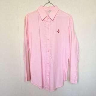 Pink Hem Long Sleeve