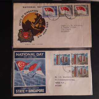 Singapore 1960,61,62,63 First Day Cover