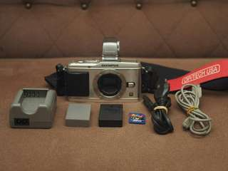 Olympus E-P3 Silver (Body only) with extras