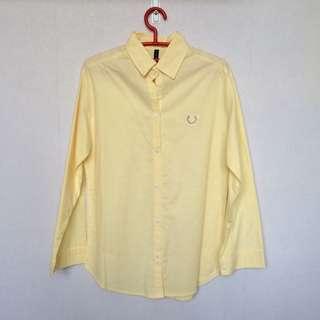 Kemeja Kuning Long Sleeve