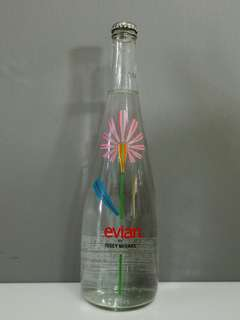 EVIAN Limited Edition Glass Bottle