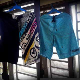 2 Quicksilver Board Shorts (ORIGINAL- size 38)