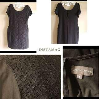 Black dress with lance