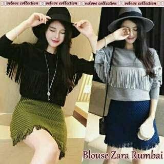 Ze Zara blouse rumbai naik  74.000  Babyterry ld90-98cm pjg 60cm