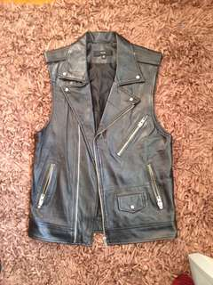 Stolen Girlfriends Club Leather Jacket Vest
