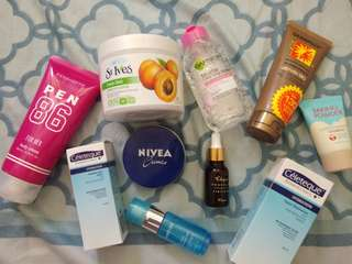 Skin care 10 items Take all for 599php