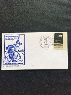US 1970 Apollo13 6th Day of Flight Space Cover stamp