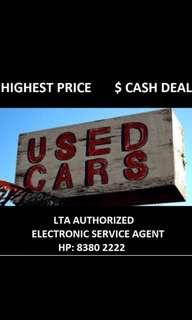 Highest $$ for cars, vans, lorries!