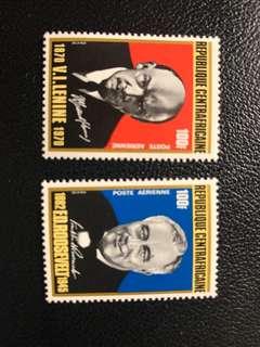 列寧、羅斯福郵票