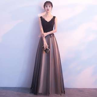 【ReadyStock】High Quality Lace Long Dinner Prom Dress