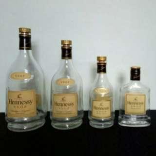 Hennessy Empty Bottle (1ltr 700ml 350ml 200)
