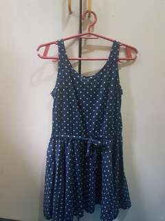 Navy Blue Polka-dot dress