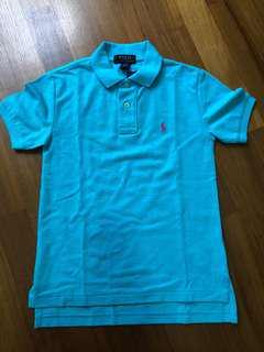 Polo Ralph Lauren Girls Turquoise Blue Polo T-shirt 140cm