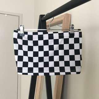 Forever 21 Checkered Bandeau Top