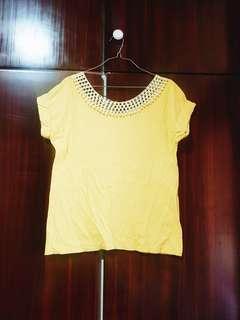 Mustard yellow top