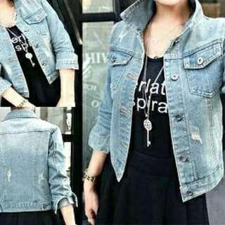 01 jaket welly muda  110.000  Jeans wash tebal fit L