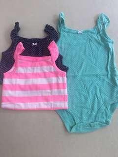Carters bodysuit 3pcs