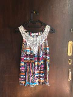 ethnic top by forever 21