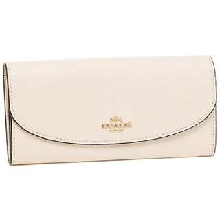 Coach Slim Envelope Crossgrain Leather Wallet