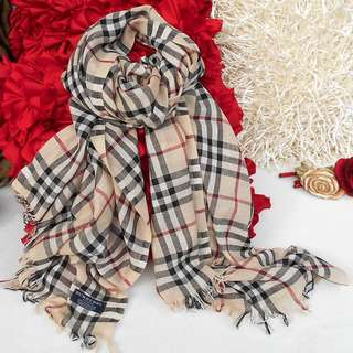 BURBERRY Luxury Scarf Shawl Wrap Authentic