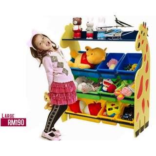 Kids Rack Storage Giraffe/ Kindergarten/ Tadika/ Taska