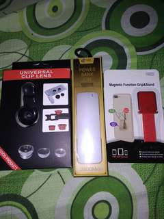Powerbank 2600Mah+universal clip lens+magnetic function grip&stand