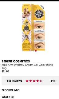 1.5g Benefit Ka Brow! Cream-Gel Brow Color Shade 3