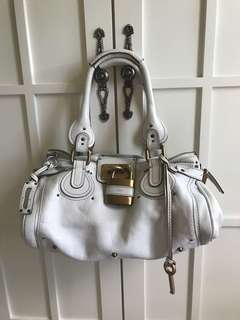 Chloe white leather bag