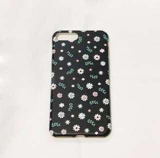 Black Floral iPhone Cover Case (iPhone 7+)
