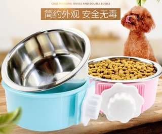 PREMIUM BRAND NEW STAINSTELL FOOD BOWL WITH COVER FOR CAGE SUITABLE FOR CAT, DOG, BIRD OR RABBIT 2 for $20