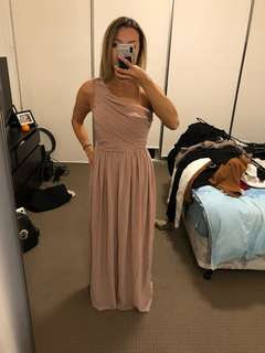 H&M pink gown dress