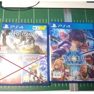 PS4 Horizon Zero Dawn & PS4 Star Ocean 5