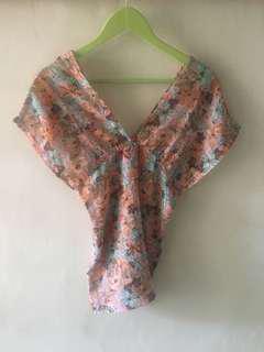 Flower top kimono style