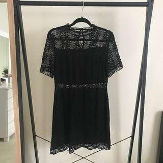 Minkpink Black Lace Dress