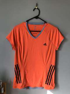 Neon orange Adidas Workout t shirt